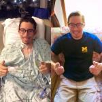 Evin Green before and after double lung transplant